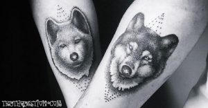 animal couples tattos