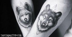 animal couples tattos