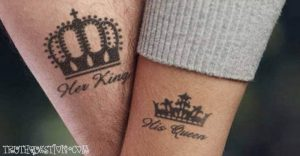 Crowns Couple Tattoos
