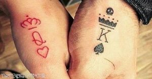 king queen cards couple tattoos