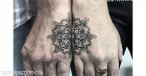 two part design tattoos