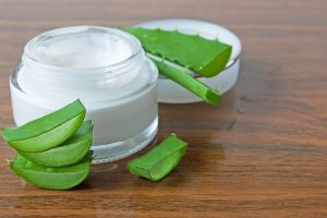 utensils to store aloevera regenerating cream