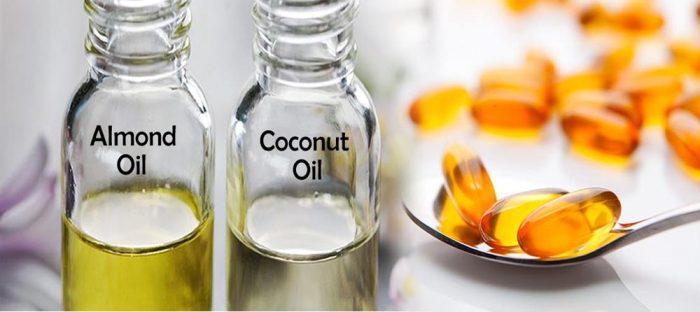 almond coconut vitamin e for eyelashes