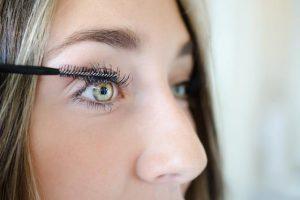 mascara brush as eyelash brush